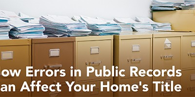 How Errors in Public Records Can Affect You
