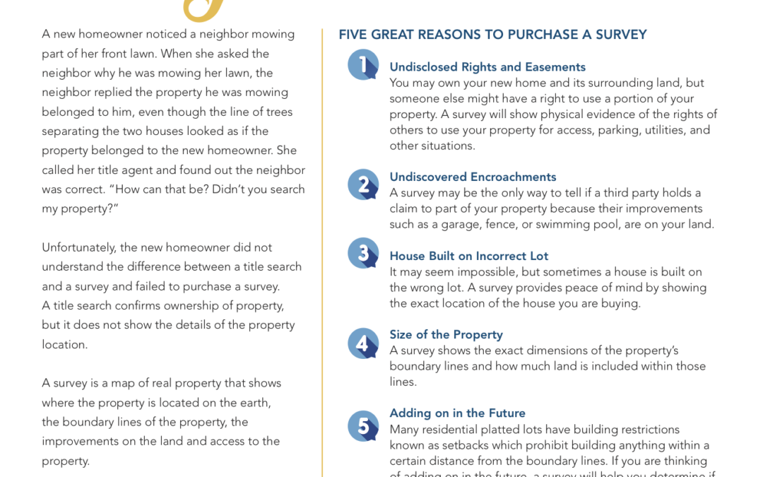 5 Reasons To Purchase A Survey